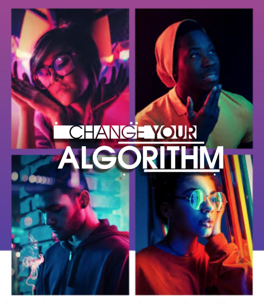 collage of individuals under neon lights